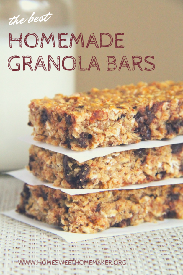 Homemade Granola Bars - healthy, easy, natural recipe