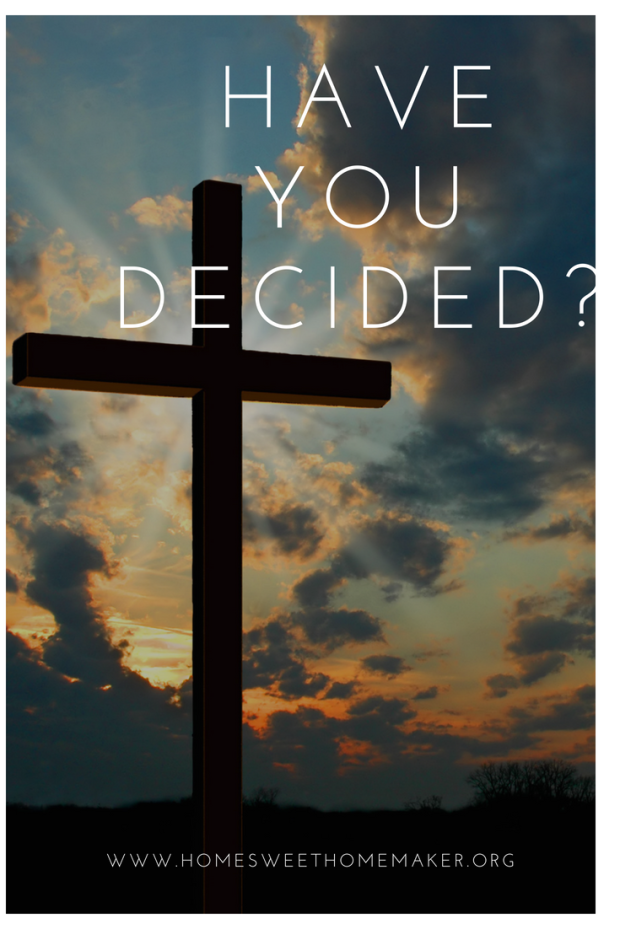 Have you decided to follow Jesus? - Christianity - Faith