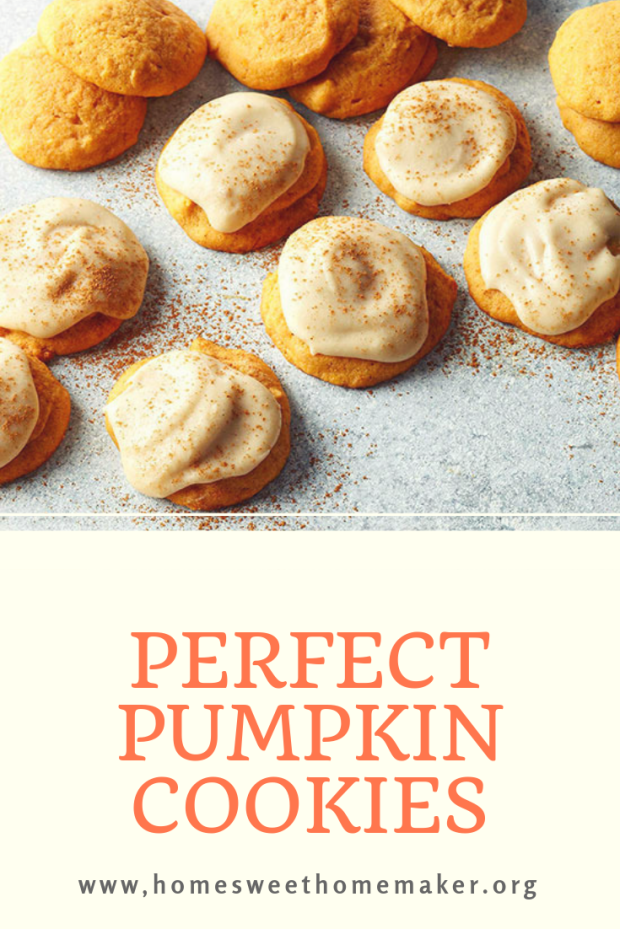 perfect pumpkin cookies frosted soft cinnamon spice thanksgiving fall best fluffy lofthouse copycat